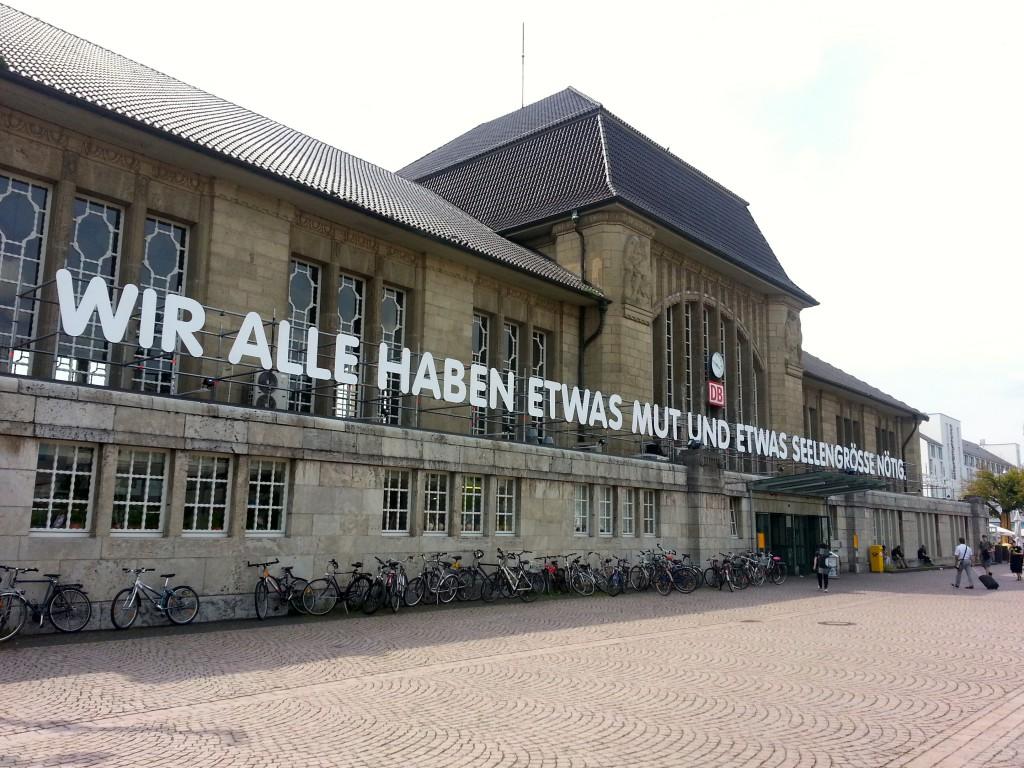 Zitat von Georg Büchner am Darmstädter Hauptbahnhof